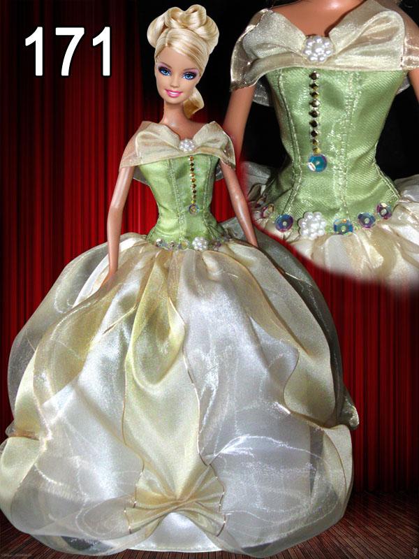 Платье для куклы своими руками пышное платье 14